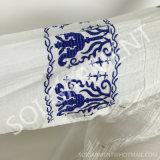 Кофточка втулки горячей вышивки хлопка сбывания свободная длинняя для повелительниц (BL-284)