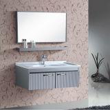Meubles fixés au mur neufs de salle de bains d'acier inoxydable avec le miroir