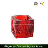 Sostenedor de cristal colorido de Tealight del cubo