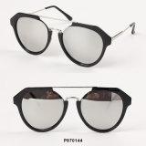 Óculos de sol novos das mulheres da forma com ponte do metal