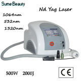 Efeito Q Switch ND YAG Laser Pigment e Tattoo Removal Laser Beauty Machine