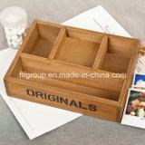 Коробка типа Европ ретро подгонянная деревянная для упаковывать дух
