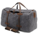 Мешок большой сумки плеча Duffel перемещения кожи холстины ночной (хаки)