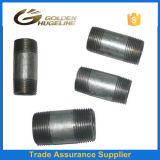 Instalación de tuberías de acero galvanizada que suelda la entrerrosca larga