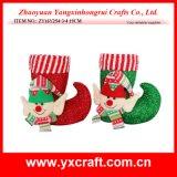 Décoration de Noël (ZY14Y512-1-2) Bougies de Noël Bouclue de jouet Elfe de Noël sur étagère