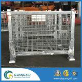 Tipo de levantamento soldado inoxidável dobrável recipiente do engranzamento de fio na carga & no equipamento do armazenamento