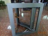 Ventana de aluminio francesa de cristal doble del marco de los modelos baratos (002)