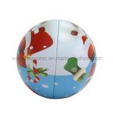 Contenitore a forma di di stagno del metallo del regalo di natale della grande sfera di formato per impaccare