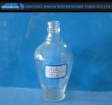 прозрачная круглая стеклянная бутылка пива 110-500ml с загерметизированной крышкой