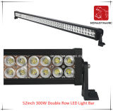 52inch 300W 도로 빛과 LED 모는 빛 떨어져 SUV 차 LED를 위해 방수 두 배 줄 LED 표시등 막대의 LED 차 빛