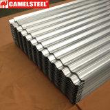 Material para techos de acero acanalado sumergido caliente del cinc para el material de construcción