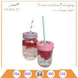 ガラスメーソンジャーのアイスクリームの瓶