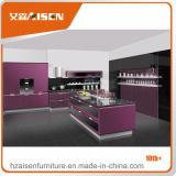 自由なデザインの普及した台所家具のラッカー食器棚