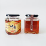 De vierkante Kruiken van het Glas voor Honing, Voedsel, Groenten in het zuur, de Flessen van de Opslag van het Glas