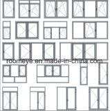 Guichet en aluminium bon marché de tissu pour rideaux de qualité de fournisseur dans Zhejiang, Chine (ACW-050)