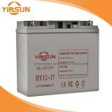 bateria solar cinzenta recarregável de 12V 17ah para o sistema de alarme