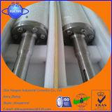 Rodillo de alta temperatura de la silicona fundida del cuarzo para el horno de temple de cristal