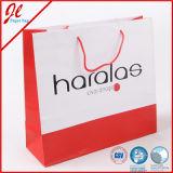 Bolso de compras de encargo de la bolsa de papel de China con insignia de encargo