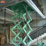 Elevador da carga para o armazém