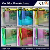 Collant de lumière de véhicule de caméléon de mode, film de teinture léger de véhicule de caméléon