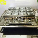 De antieke Doos van de Fabriek van de Doos van de Juwelen van de Spiegel In het groot Antieke met Spiegel