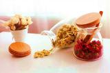 Botella del almacenaje del crisol del té del vidrio de Borosilicate de la cocina del almacenaje del té del fabricante