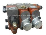 Soupape de boisseau de contrôle directionnel de pompe hydraulique d'excavatrice avec le flux partageant la soupape de sécurité