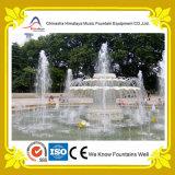 De openlucht Fontein van de Pijler van het Patroon van Lotus Marmeren in de Pool van het Park