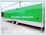 세륨 고품질 음식 트럭 이동할 수 있는 음식 트레일러 체더링 트레일러