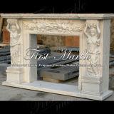 Cheminée White Carrara pour matériaux de construction Mfp-614