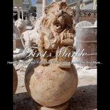 Una fontana dorata dei quattro leoni del travertino per la mobilia Mf-1059 del giardino