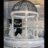 Fontana di pietra di marmo Mf-427 del calcio dell'oggetto d'antiquariato della fontana del granito