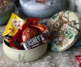 Cadre personnalisé de bidon de faveur de mariage de qualité supérieur avec l'apparence sensible, bonbons cadre, boîte-cadeau de sucrerie