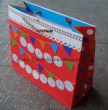 Bolsas de papel impresas aduana fuerte de las compras del regalo