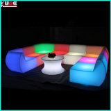屋外の照明テラスの家具はソファーのLtalianのソファーをセットする