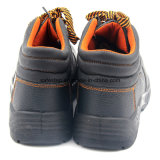 Обувь безопасности впрыски PU дешевая кожаный пластичная