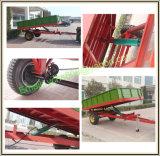 New European Style Trailer Farm Machinery Tracteur monté Dumping Trailer