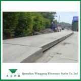Static-Schuppen für das Wiegen der Fahrzeuge am Kanal des Eintrages