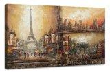 Pintura al óleo de las escenas de la calle de París (ADA9032)