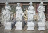 Découpant la sculpture de marbre en pierre en jardin pour la décoration à la maison (SY-X1032)