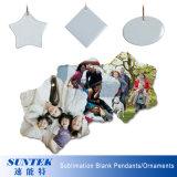 Шкентель/орнамент керамической пустой овальной формы сублимации украшений рождества керамический