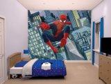 Murales movibles decorativos del papel pintado del hombre araña de la historieta para el sitio de los cabritos
