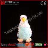 プラシ天のBudgerigarによって詰められるBudgieの柔らかい鳥のプラシ天のオウムのおもちゃ