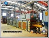 Macchina d'imballaggio semiautomatica orizzontale della pressa idraulica per la gestione dei rifiuti