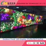 Anúncio comercial grande video ao ar livre da parede/indicador/tela do diodo emissor de luz da cor cheia, P20mm