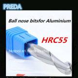 2 scanalature Ball Nose Estremità Mills per Aluminium