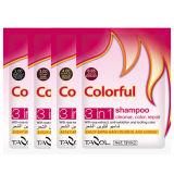 Cosmético colorido preto natural da cor do cabelo do champô do uso da casa
