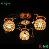 Luz de cristal do candelabro da luz de teto de 3 lâmpadas das lâmpadas 5 para o projeto da HOME/hotel