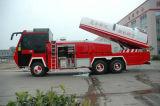 Coches de bomberos de calidad superior del parque de bomberos del carro de la lucha contra el fuego de la Aire-Turbina de chasis de HOWO