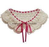 Collari reali del Crochet della mano, collare a foglie rampanti Handmade dell'annata